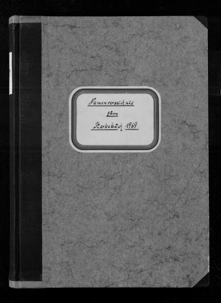 File:Alphabetisches Namensverzeichnis zum Sterberegister des Standesamtes Minden, 1969.djvu