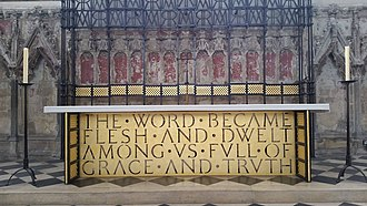 Altar of the Lady Chapel Altar of Lady Chapel Ely Cathedral October 2017.jpg