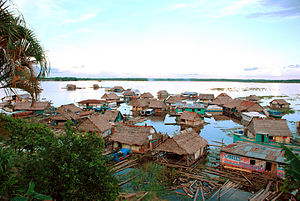 Amazon basin - A floating village in Iquitos, Peru