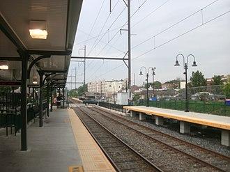 Ambler station - The new high-level platform station at Ambler, facing the former stationhouse