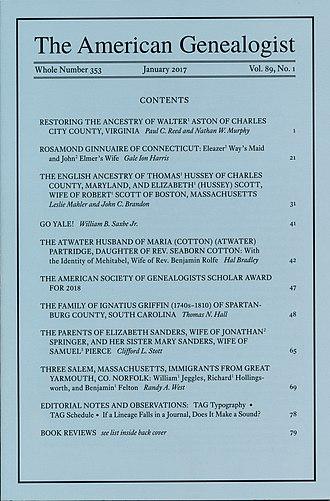 The American Genealogist - Image: Americangenealogist