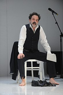 Amir Krief in Ifigenia, Beersheba Theater, 2012.jpg