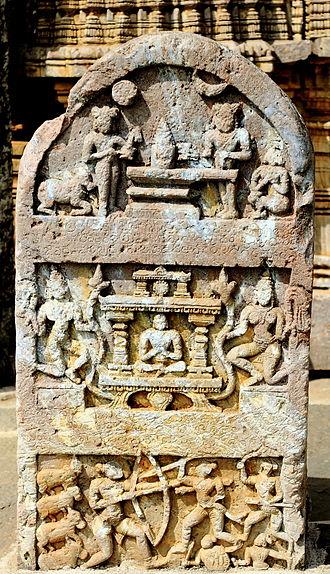 Janna - Close up of Poetic Kannada inscription composed by Janna on a Hero stone at the Amrutesvara Temple, Amruthapura, Chikkamagaluru district, Karnataka state, India