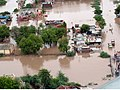 An aerial view taken from the IAF relief Helicopter of the flood-affected areas in Gujarat on July 3, 2005 (2).jpg