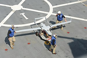 Boeing Insitu RQ-21 Blackjack - RQ-21A on the flight deck of the USS Mesa Verde