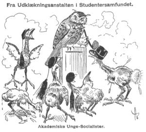 Andreas Bloch - Caricature from Korsaren. Andreas Bloch (1908)
