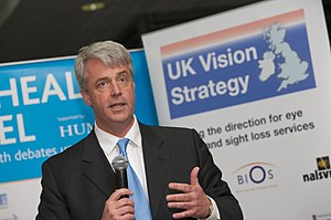 English: Andrew Lansley, British politician an...