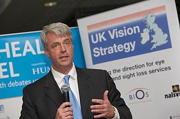 English: Andrew Lansley, British politician an...