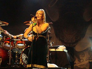 Anette Olzon - Olzon performing with Nightwish in Belo Horizonte, Brazil, on 10 November 2008