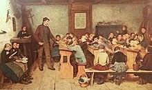 220px-Anker_Die_Dorfschule_von_1848_1896 dans AUX SIECLES DERNIERS