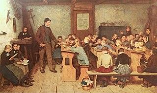 L'école de nos ancêtres dans HUMEUR DES ANCETRES 320px-Anker_Die_Dorfschule_von_1848_1896