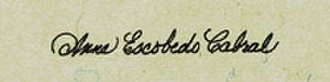 Anna Escobedo Cabral - Cabral's signature, as used on American currency