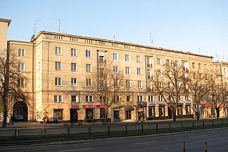 Anna Walentynowicz - Building in Gdańsk-Wrzeszcz where Anna Walentynowicz lived (2010 photo)