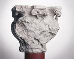 Anonyme toulousain - Chapiteau de colonne simple , Lions dans des lianes - Musée des Augustins - ME 222 (4).jpg