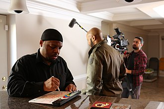 Anacostia (web series) - Creator and showrunner Anthony Anderson, while shooting season five.