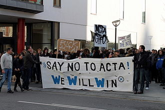 Anti-Counterfeiting Trade Agreement - Protests in Denmark, February 2012