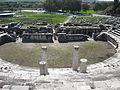 Antikes Theater in Milet (Türkei), Blick zur Orchestra.JPG