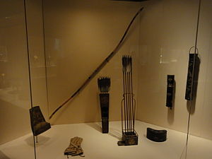 Quiver - Image: Antique Japanese (samurai) yumi and yebira