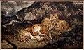 Antoine-louis barye, leonessa e cuccioli, 1832 ca, grafite e acquarello.jpg