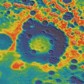 Apollo (crater) - Image: Apollo basin GRAIL gravity