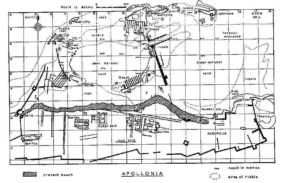 Apollonia Map 1958-1959
