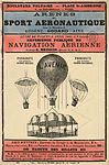 Arènes du sport aéronautique sous la direction de Eugène Godard, aîné, lundi de Paques, 6 avril 1885, à 2 heures.jpg