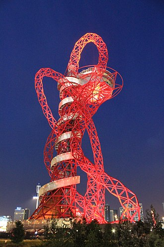 ArcelorMittal Orbit - Image: Arcelor Mittal Orbit at night