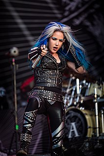Alissa White-Gluz former lead vocalist and one of the founding members of the Canadian metal band The Agonist, and current lead vocalist for the Swedish melodic death metal group Arch Enemy