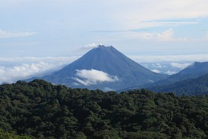 Arenal Volcano as seen from Monteverde.jpg