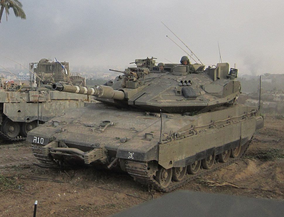 Armoured Corps operate near the Gaza Border-1