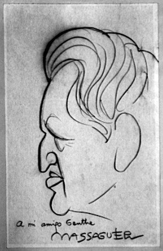 Arnold Genthe - Caricature of Arnold Genthe by Cuban artist Conrado Massaguer