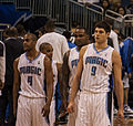 Arron Aflalo, Nikola Vucevic, Jameer Nelson, Glen Davis Washington at Orlando 021.jpg