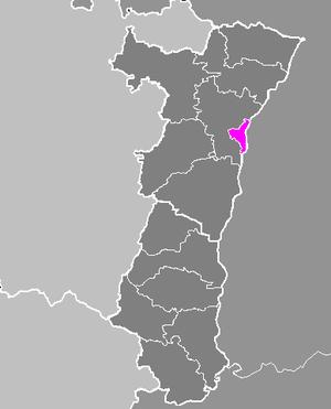 Làg vum Arrondissement Arrondissement Strossburi-Stàdt ìm Elsàss