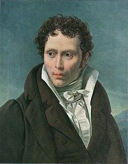 Arthur Schopenhauer Portrait by Ludwig Sigismund Ruhl 1815