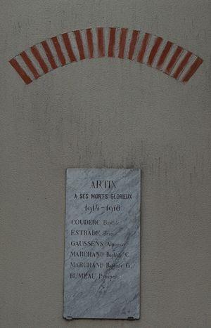 Artix, Ariège - Artix War Memorial