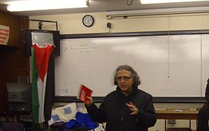 As'ad AbuKhalil - As'ad AbuKhalil addressing students in the University of Manchester
