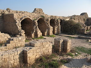 Ashdod-Sea - Minat al-Qal'a or Castellum Beroart, storerooms inside the castle.