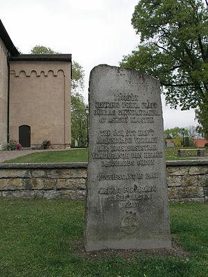 Askeby Abbey - Askeby monastery memorial stone