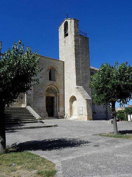 Église Saint-Martial d'Assas (34). Vue méridionale.
