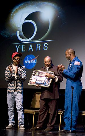 Pharrell Williams - Williams and American astronaut Leland D. Melvin present a montage to record producer Quincy Jones.