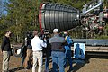 Astronaut Matthew Dominick speaks with media representatives prior to the Green Run hot fire test.jpg
