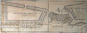 Brooklyn Cruise Terminal - 1849 chart of Atlantic Basin