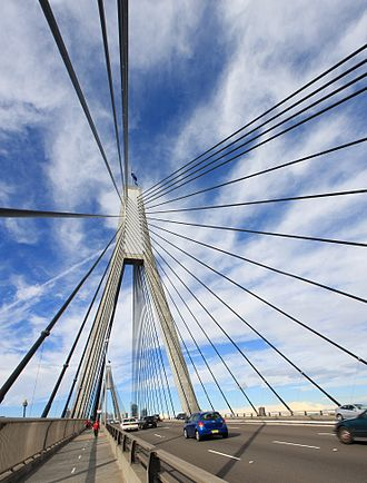 Anzac Bridge - Anzac Bridge pylons and cables