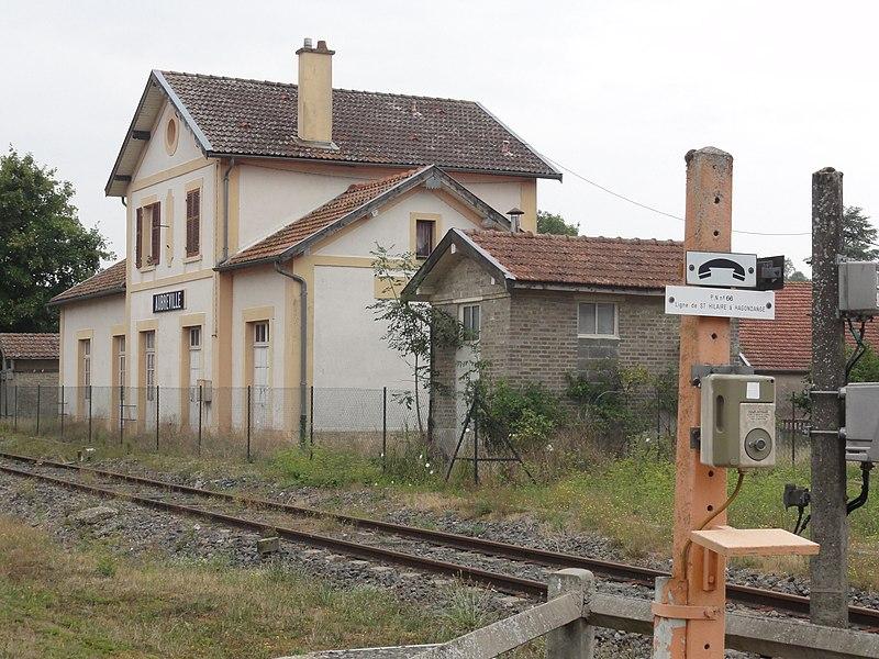 Aubréville (Meuse) la gare