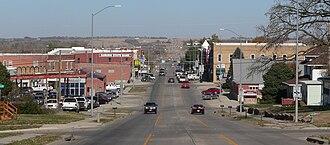 U.S. Route 75 in Nebraska - US 75 through downtown Auburn