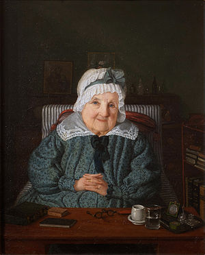 Augusta Löwenhielm - Augusta von Fersen by Amalia Lindegren in 1844, at the age of 90.