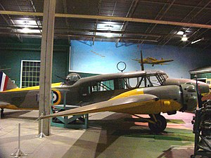 Moose Jaw - Avro Anson bomber trainer in the SWDM museum