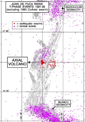 Cobb–Eickelberg Seamount chain - The most recent seamount