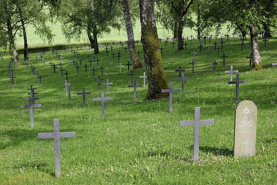 Deutscher Soldatenfriedhof bei Azannes-et-Soumazannes nördlich von Verdun.