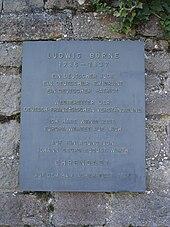 Gedenktafel für Ludwig Börne am Hambacher Schloss (Quelle: Wikimedia)